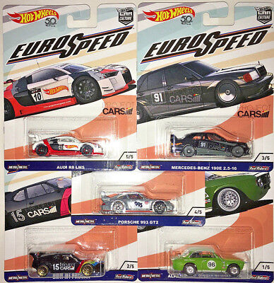 Euro Speed 5 Car Set 2018 Hot Wheels Car Culture C Eurospeed