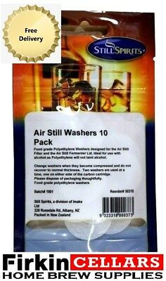 Still Spirits Turbo Replacement Air Still Washers 10 Per Packet Water Distilling