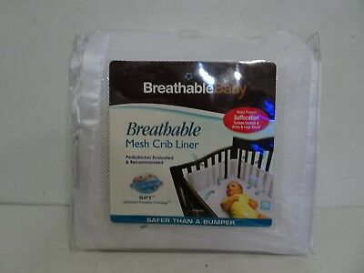 Breathable Baby Breathable White Mesh Baby Crib Liner Safe For Babies