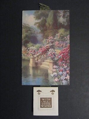 "Raphael Tuck N. 6078 - Rare Calendar For 1930 ""flower Lowers"" By J. Machperson !"