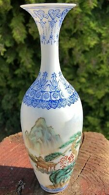 Beautiful Antique Vintage Chinese Oriental Decorative Vase In Case Box*