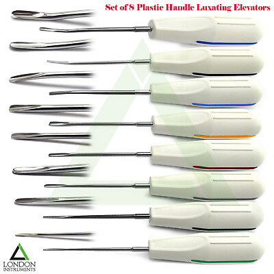 Set Of 8 Elevators Surgical Tooth Extraction Oral Surgery Root Dentist Elevators