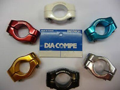 Dia-Compe MX1500 2Bolt Seat Clamps 25.4mm suit 22.2mm Post-Old School BMX Red