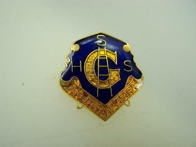 Pin back badge Gladstone State High School  'sic atur ad astra'      939