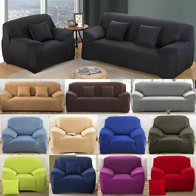 Stretch Chair Sofa Covers 1 2 3 4 Seater Protector Loveseat Couch Slipcover US