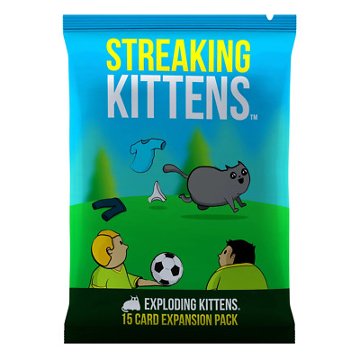 Exploding Kittens Streaking Kittens Expansion Card Game NEW PREORDER Oct 2018