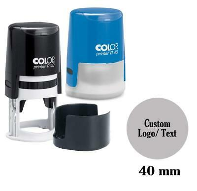 COLOP Self Inking Rubber Stamp Custom Round Logo Stamper Personalized -COLP-C11