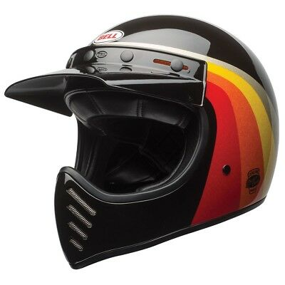 Bell Moto 3 Motorcycle Helmet - Chemical Candy Black/Gold - All Sizes