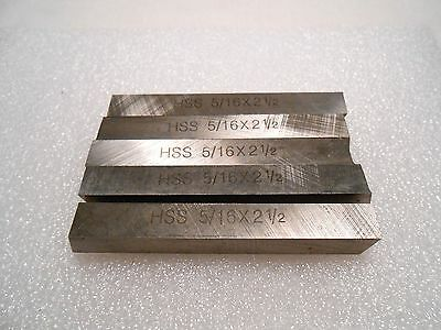 "5/16"" Square x 2-1/2"" High Speed Steel Tool Bits Lathe Bits Tool Bit GROUND 5 PC"
