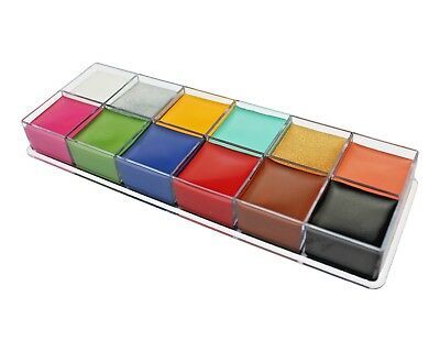 Face & Body Paint Professional Palettes Set 12 Colours Oil Stage Make Up Kit