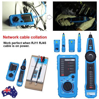 Network RJ45 Ethernet Testing Tester Test Tool for Cat5 Cat5e Cat6 Cable Lead AU