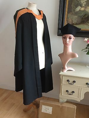 VINTAGE GRADUATION GOWN and hood by Ede and Ravenscroft - £28.00 ...