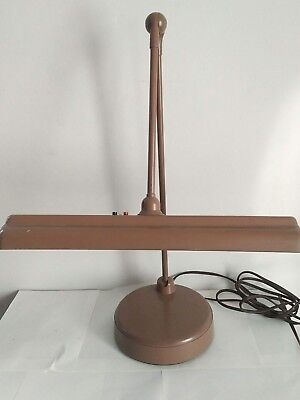 Vintage Industrial  Fluorescent Drafting Desk Lamp Articulated Arm (c48)