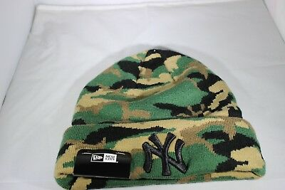 New Era Essential Camo New York Yankees Knitted Beanie - Camoflage