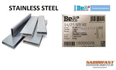 BeA 14/25 STAINLESS STEEL STAPLES BOX 1,000
