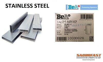 BeA 14/25 STAINLESS STEEL STAPLES BOX 5,000