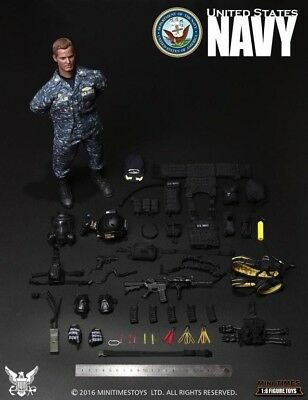 "In-stock 1/6 Scale mini times toys M007 US Navy  Ship in Doomsday 12"" Figure New"