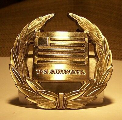 US Airways Pilot Hat Badge 3rd Issue (Nice!!)