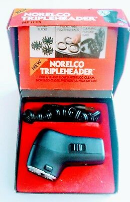 Vintage Norelco Tripleheader HP 1135 Electric Razor Shaver with Box