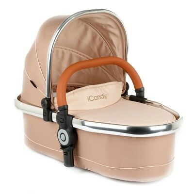 iCandy Peach Blossom Twin Carrycot - Butterscotch - Chrome Chassis