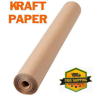 450MM x 50M STRONG BROWN KRAFT WRAPPING PAPER 90GSM