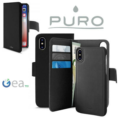 PURO Flip WALLET DETACHABLE 2 in 1 Custodia Per iPhone X XS XR + Cover Magnetica