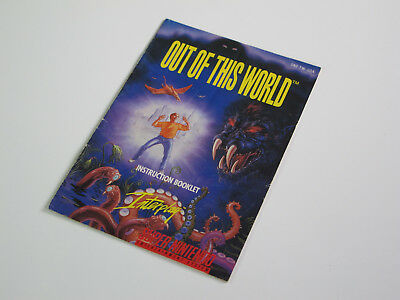Out of this World Super Nintendo Spiel Anleitung Instruction Booklet Manual SNES
