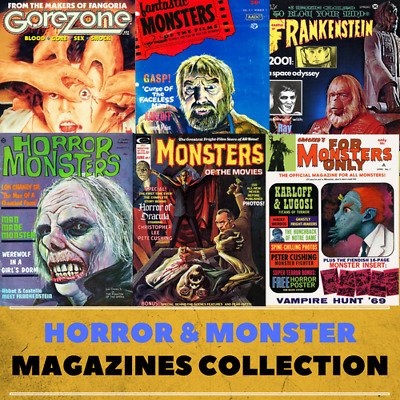Horror & Monster Magazines - 171 Rare Issues on DVD Gorezone Monsterland + more