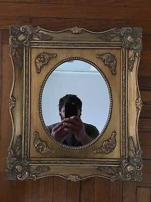 Vintage Framed Mirror Old Gold Antique Style Ornate Classic
