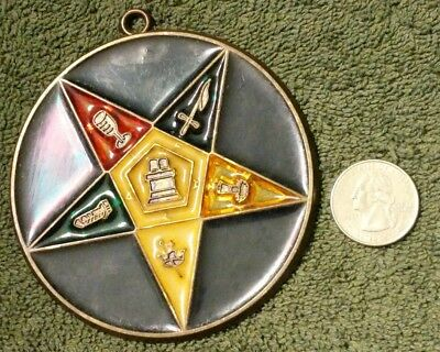 """Vintage Unique Masons Masonic Order Of The Eastern Star 3 3/8"""" Hanging Ornament"""