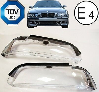 BMW E39 00-03' Headlights Lenses Face Lift Covers Lens BMW LCI Saloon Estate