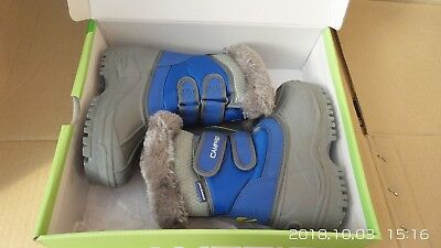 Campri Boys/Girls Snow Boots  Insulated Winter boots, junior Blue/Pink