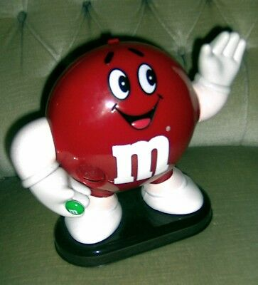 M&M Spender Rot von 1993 funktionstüchtig ca. 24 cm hoch Mars Incorporated Top!