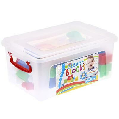 Tub Of 50 Building Blocks Boys Girls Kids Age 18+ Months Large Plastic Pieces!