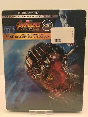 Avengers Infinity War 4K Ultra HD + Blu-ray +Digital Copy Steelbook