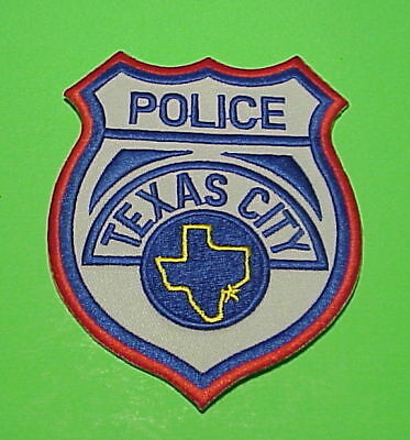 Texas City  Texas  Tx   Police Patch  Very Nice!!   Free Shipping!!!