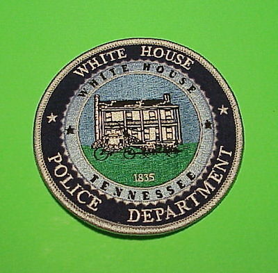 White House  Tennessee  1835  Tn  Police Patch   Free Shipping!!!