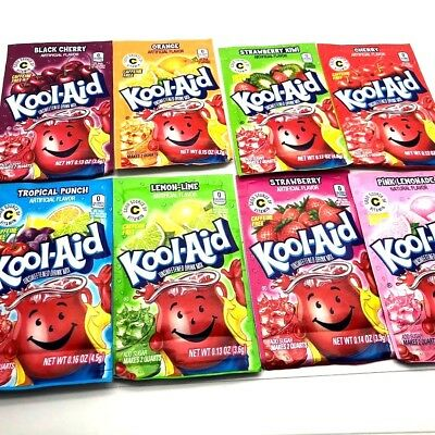 Kool Aid American Powder Mix Drink Single Sachets packets Made in USA UK STOCK
