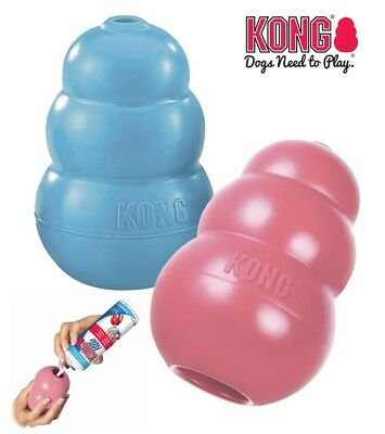 KONG PUPPY DOG TOY - Soft Rubber Treat Dispenser Chew Toy Teething Aid