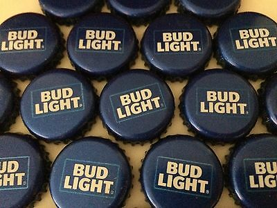100 Lot New Current RETRO BUD LIGHT Beer Bottle Caps Crowns~NO DENTS! Clean!