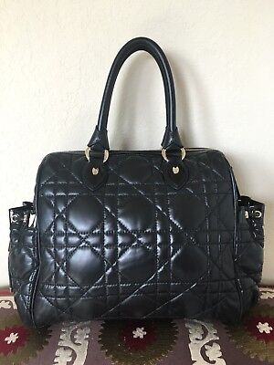 74d0e16bf55f CHRISTIAN DIOR BLACK Lambskin Dior Granville Bag w Box Dust Bag ...