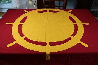"US WW2 Transportation Transport Wool Depot Flag Banner Large Nice Rare 5'8"" X 96"