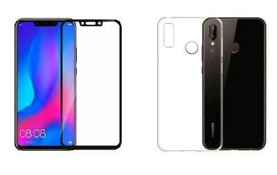 Silikon Hülle 360° Case + 3D Full Cover Schutzglas Huawei P20 P-Smart Honor 10