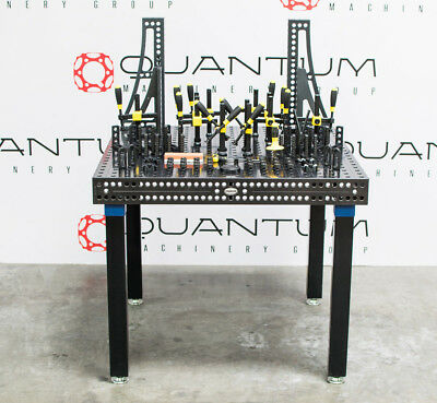 New Siegmund 16mm Welding Table 39 X Includes Set 3 1 Clamping System Shown