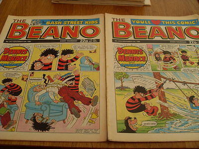 The Beano Comic Issue's No 2416 /2417 1988