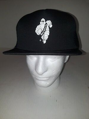 Vintage Michelin Tires Man Snapback Trucker Hat Cap Black Rope and Color