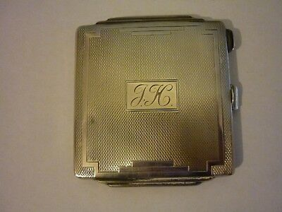 Sterling Silver Compact Case, W I Broadway & Co, Birmingham 1937