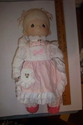 Precious Moments Porcelain Bisque Doll, Debbie #6214/G In Original Box USA Only