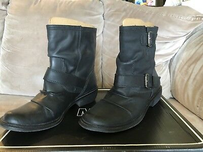 d399d4f7c844 MIA BUCKLEY WOMENS Black Leather Boots Size 7 -  54.99