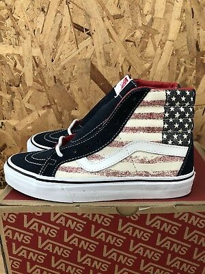 94386377f8 Vans Sk8 Hi ReIssue (Americana) Dress Blues Size Mens 6 Womens 7.5 New faded